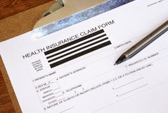 Health Insurance Claim Form Stock Photos