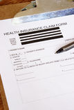 Health Insurance Claim Form Stock Images