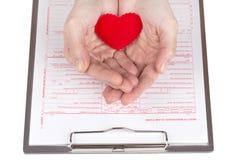 Health insurance claim form Stock Photos