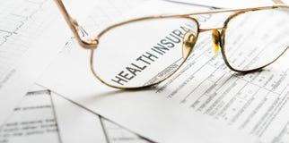 Health insurance claim form Royalty Free Stock Photos