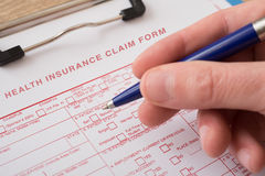 Health insurance claim form Royalty Free Stock Photos