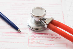 Health insurance claim form Royalty Free Stock Photography