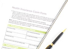 Health Insurance Claim Form Royalty Free Stock Images