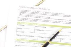 Health Insurance Claim Form. Photo closeup of Health Insurance Claim Form royalty free stock photos