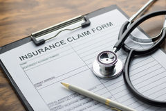 Health insurance claim form Royalty Free Stock Photo