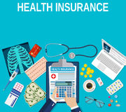 Health insurance concept. Royalty Free Stock Photo
