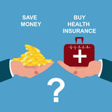 Health insurance concept, vector illustration Stock Images