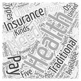 Health Insurance for Every Need Understanding the Kinds Available word cloud concept word cloud concept  background Royalty Free Stock Photography