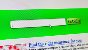 Health insurance - fictional online search stock footage