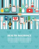 Health Insurance flat design.lorem ipsum is simply text. Vector illusttration stock illustration