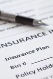 health insurance form Royalty Free Stock Photos