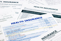Health insurance form Royalty Free Stock Photo