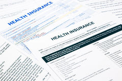Health insurance form Stock Photos