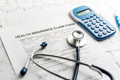 Health insurance form Stock Images