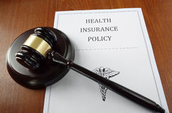 Health insurance gavel Royalty Free Stock Images