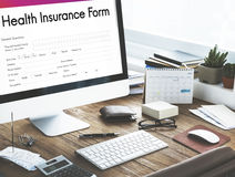 Health Insurance Healthcare Form Concept Royalty Free Stock Image