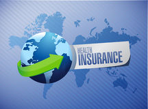 Health Insurance international sign concept Stock Photo