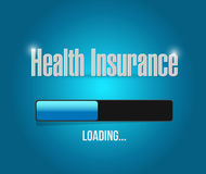 Health Insurance loading sign concept Royalty Free Stock Photos