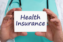 Health insurance medical concept ill illness healthy doctor Stock Image