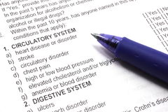 Health Insurance Medical Questions Royalty Free Stock Photo