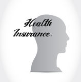 Health Insurance mind sign concept Stock Image