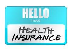 Health insurance name tag Stock Photos