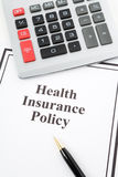 Health Insurance Policy Royalty Free Stock Photos