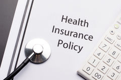 Health Insurance Policy Stock Photos