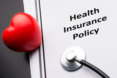 Health Insurance Policy Stock Photo