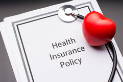 Health Insurance Policy Stock Image