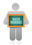 Health Insurance post board sign concept Stock Photo