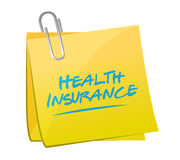 Health Insurance post sign concept Royalty Free Stock Photos