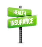 Health Insurance road sign concept Stock Images