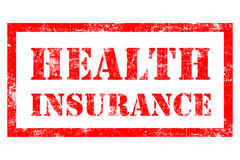 Health Insurance rubber stamp. Health Insurance stamp in red ink Stock Images