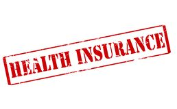 Health insurance. Rubber stamp with text health insurance inside,  illustration Stock Photo