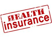 Health insurance. Rubber stamp with text health insurance inside,  illustration Royalty Free Stock Images