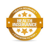 Health Insurance seal sign concept Stock Image