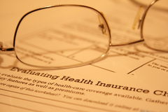 Health insurance statement Stock Images
