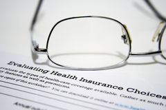 Health insurance statement Royalty Free Stock Photo