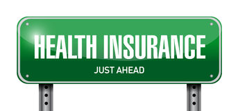 Health Insurance street sign concept Stock Photography