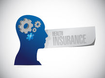Health Insurance thinking sign concept Stock Images