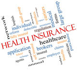Health Insurance Word Cloud Concept Angled Royalty Free Stock Photos