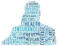 Health insurance word cloud Stock Photography