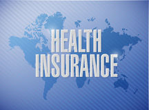 Health Insurance world sign concept Royalty Free Stock Photos
