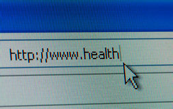 Health and internet concept Royalty Free Stock Photo