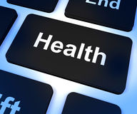 Health Key Showing Online Healthcare Royalty Free Stock Photos