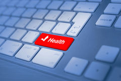 Health keyboard key Royalty Free Stock Photography