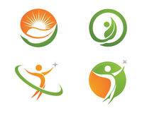 Health life and Fun logo Royalty Free Stock Images