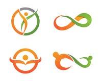 Health life and Fun logo Stock Photos