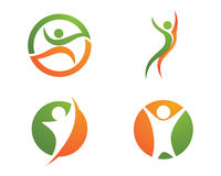 Health life and Fun logo Stock Photo